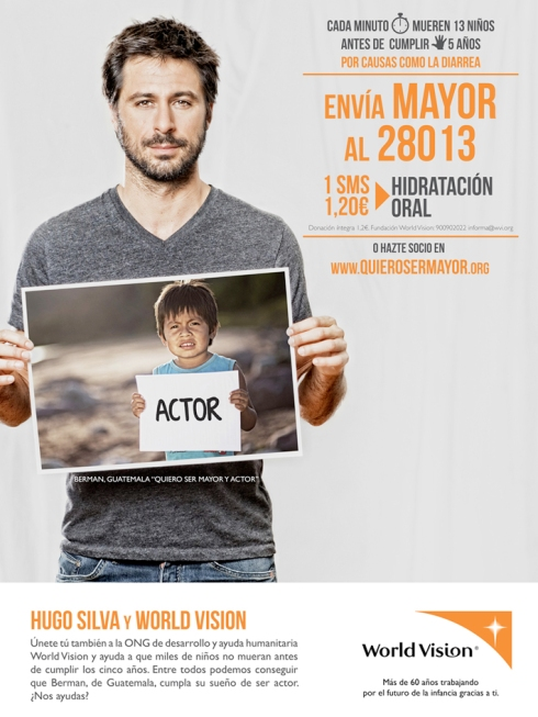 Hugo Silva y World Vision