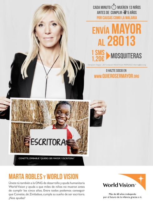 Marta Robles y World Vision